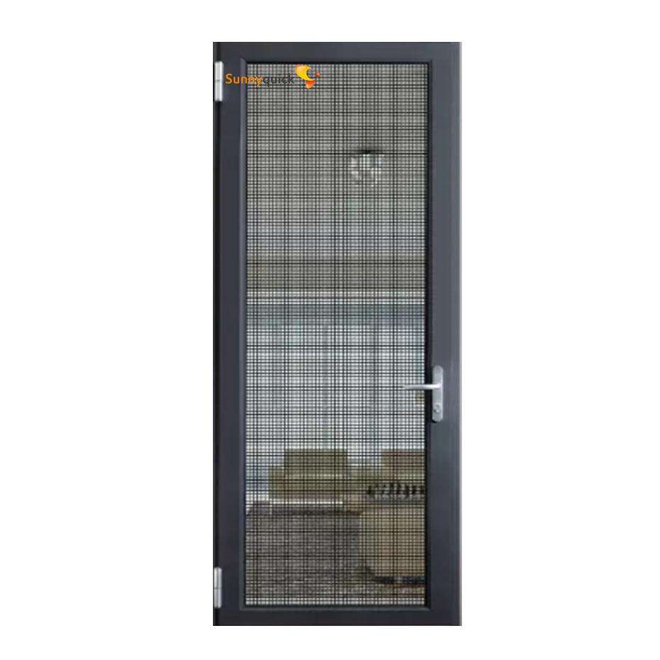 Sunnyquick aluminum glass swing doors aluminium cheap interior casement door wholesale with mosquito net screen