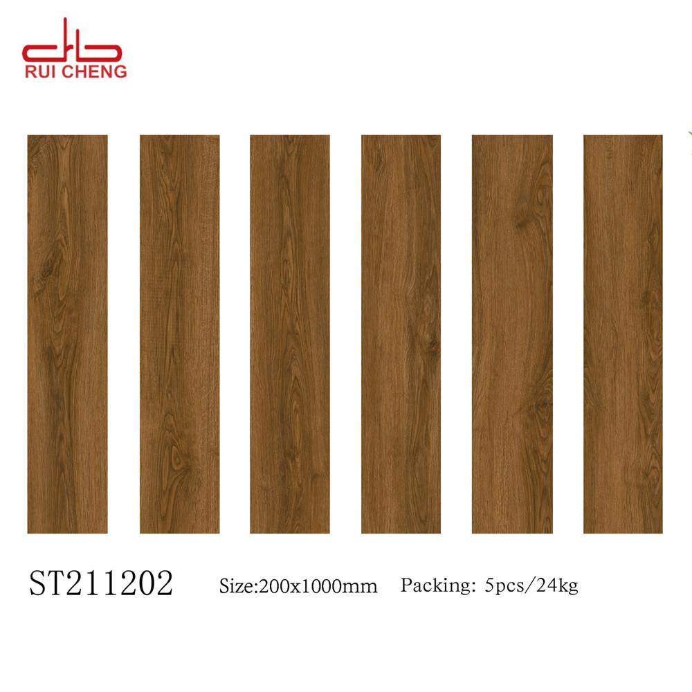 Wholesale china porcelain oak wooden look tiles for floor 200x1000mm/8