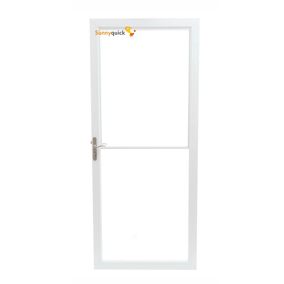 Sunnyquick security aluminum glass swing doors for bathrooms aluminium casement door grill design