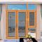 Sunnyquick aluminum glass swing doors profile aluminium commercial casement door with mosquito net screen