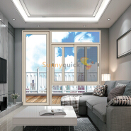 Sunnyquick aluminum glass swing doors used aluminium swing glass casement door commercial with screen sale
