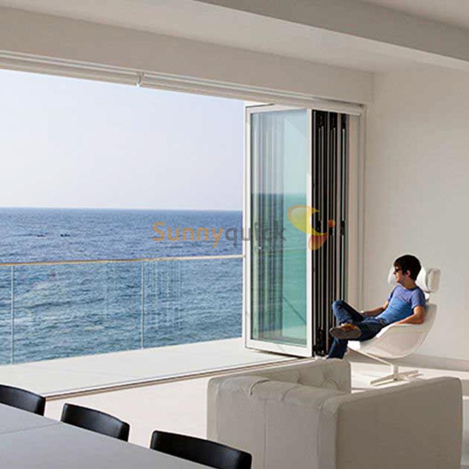 Sunnyquick Australia standard aluminum glass bi-fold door interior aluminium folding sliding doors patio prices