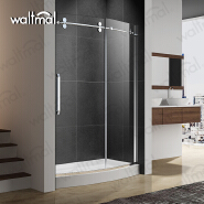 2018 High Quality 304 stainless Steel and Curved Tempered Glass Complete Corner Shower Door For Bathroom