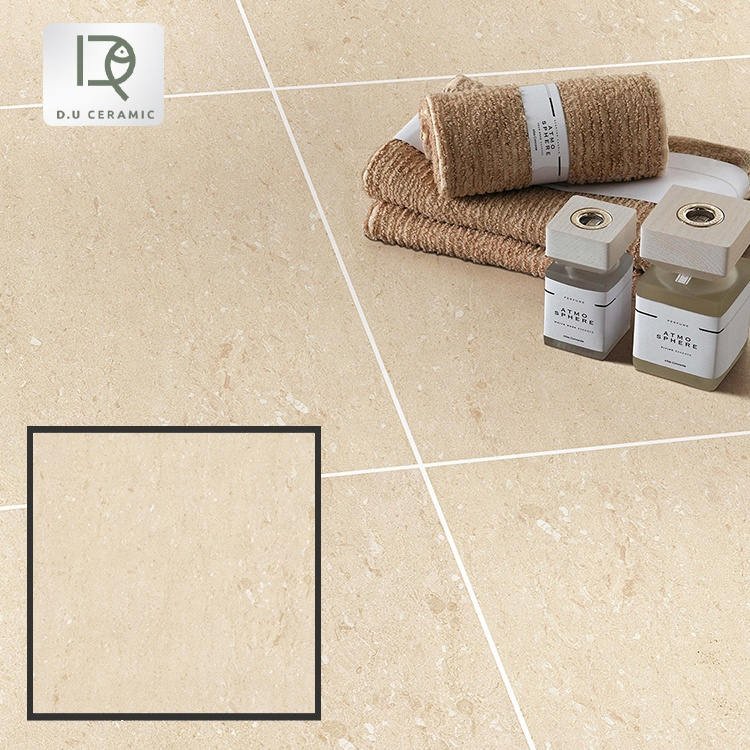 600 x 600mm non-slip beige rustic porcelain tile 600*600mm matt finishing surface beige color glazed porcelain tiles