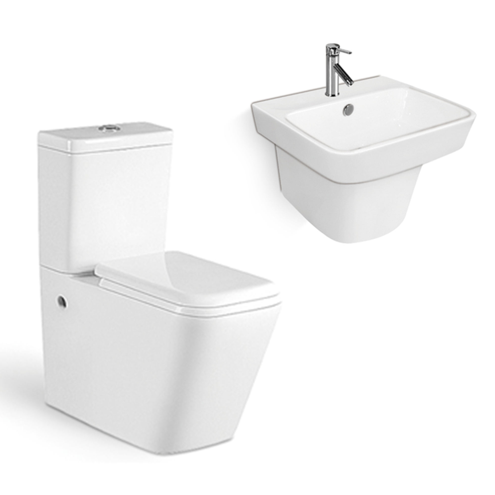First-E5200 High Quality Sanitary Ware White Two Piece Ceramic WC Toilet Set