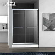 Aluminum Alloy Frame Sliding Shower Glass Door With Cheap Price WTM -03B21