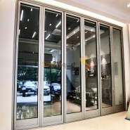 Sunnyquick hurricane impactaluminum glass bi-fold door profile for aluminium folding sliding doors modern