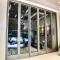 Sunnyquick hurricane impactaluminum glass bi-fold door profile for aluminium folding sliding doors modern