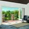 Sunnyquick anti theft aluminum glass bi-fold door extrusion aluminium alloyed folding sliding doors system