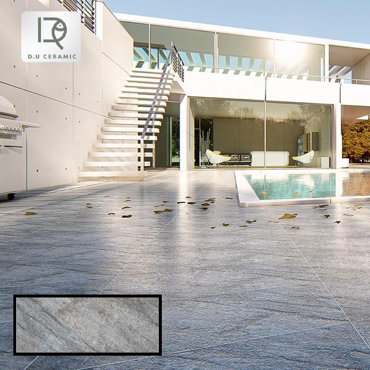 300x600 Tiles Glazed Matte Finished Porcelain Finish Gray Non-slip Flooring Matt Rustic Floor Tile