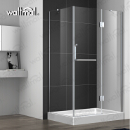 Pivot tempered glass with side panel bathroom frameless shower enclosure