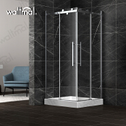 2019 latest Fashion Design Cheap Price Double Sliding Glass Square Shower Room