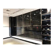 Artificial marble lauren black gold stone golden black marble slab wall sheets for sale or home furniture custom