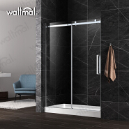 High Quality Hanging Roller Glass frameless Sliding Shower Door for four star hotel