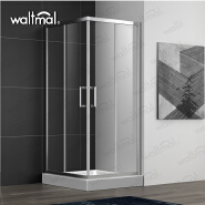2019 New Design Two Sliding Glass Simple Shower Room With Aluminium Alloy Frame
