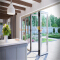 Sunnyquick aluminum glass bifolding door heat resistance aluminium alloyed bi folding sliding doors interior