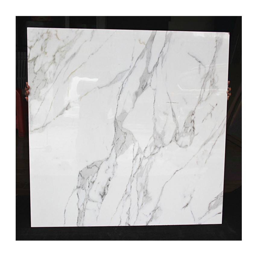 Custom size white calacatta marble stone cheap price per square meter marble stone sheets for sale