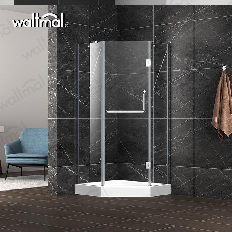 2018 new design diamond shape shower enclosures hinge open style shower room