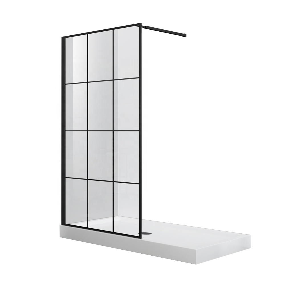 Tempered Glass Walk in Shower door bathtub shower screen with aluminium alloy frame