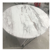 Furniture customization white slate marble stone bedroom furniture design floors and wall background dining table made in China