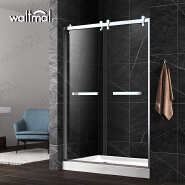 2018 New Product Stainless Steel 304 Frame and Bypass Sliding Shower Door