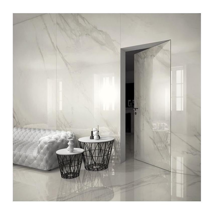 Custom wall and floor furniture white fish belly stone white marble slab sheet for sale