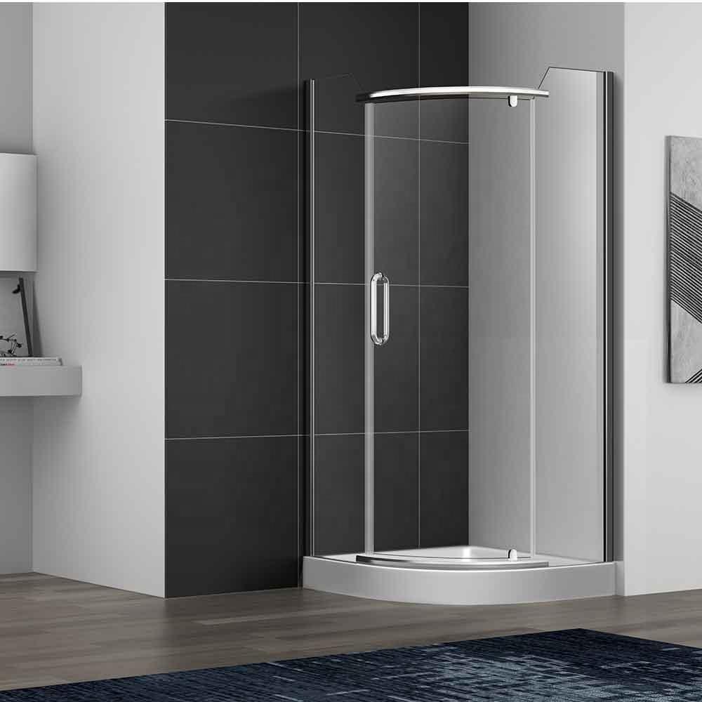 bathroom curve lowes shower enclosures Stainless steel Chorme/Black shower room