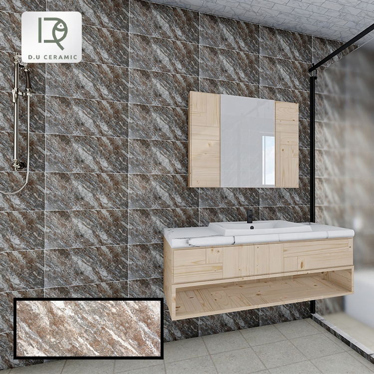 300*600 House bathroom Look Like Stone Ceramic Wall Tiles Manufacturing indoor bath Wall Tile