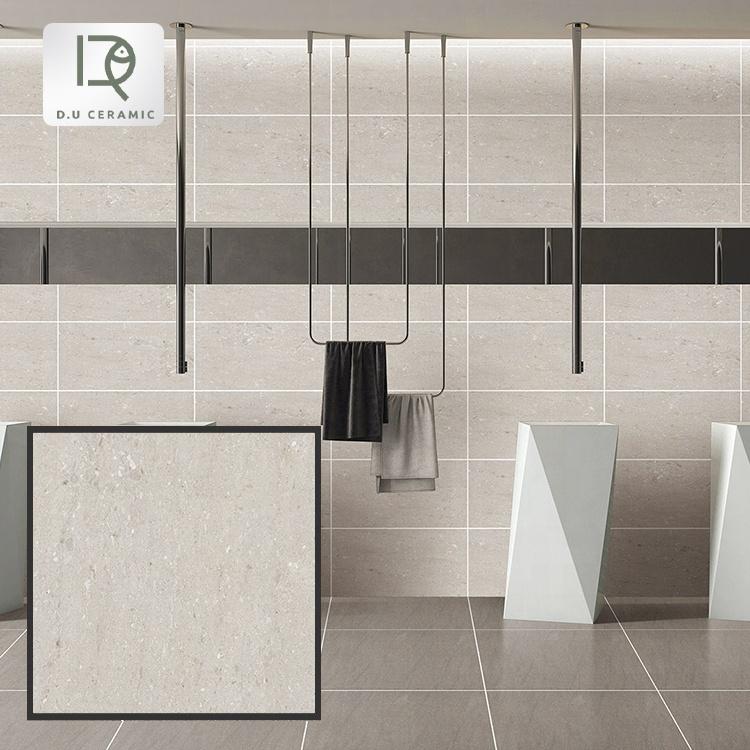 new design bathroom gray color glazed porcelain matt finishing tiles non-slip gray color porcelain tiles