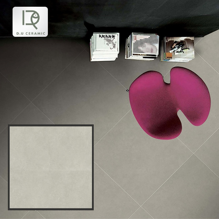 Gray Indoor porcelain anti slip floor tiles 600x600mm porcelanato glaze rustic tile floor for kitchen and home