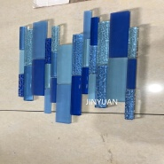 JINYUAN Wholesale luxury special-shaped long strip glass mosaic tile