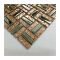 China factory outlet rose gold glass mosaic tile and electroplate metal mosaic backing me