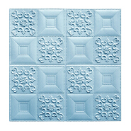 Blue color 3D wallpaper PE foam wall sticker 3D wall panels 3D brick for walls and ceilings