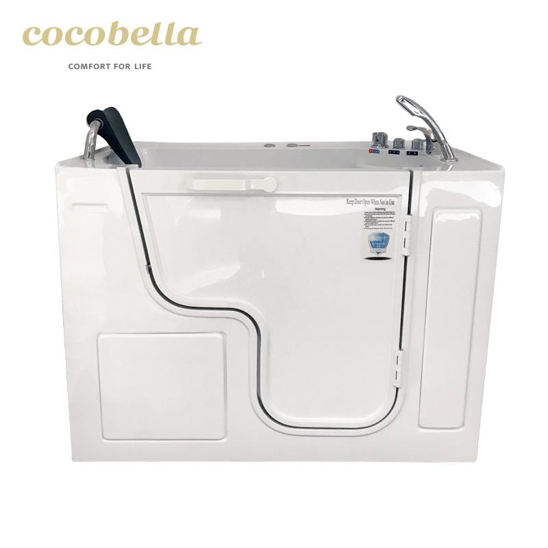 cocobella portable shoer bathtub combo safety walk in tub for elder disabled