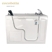 cocobella portable shoer bathtub combo safety walk in tub for elder disabled