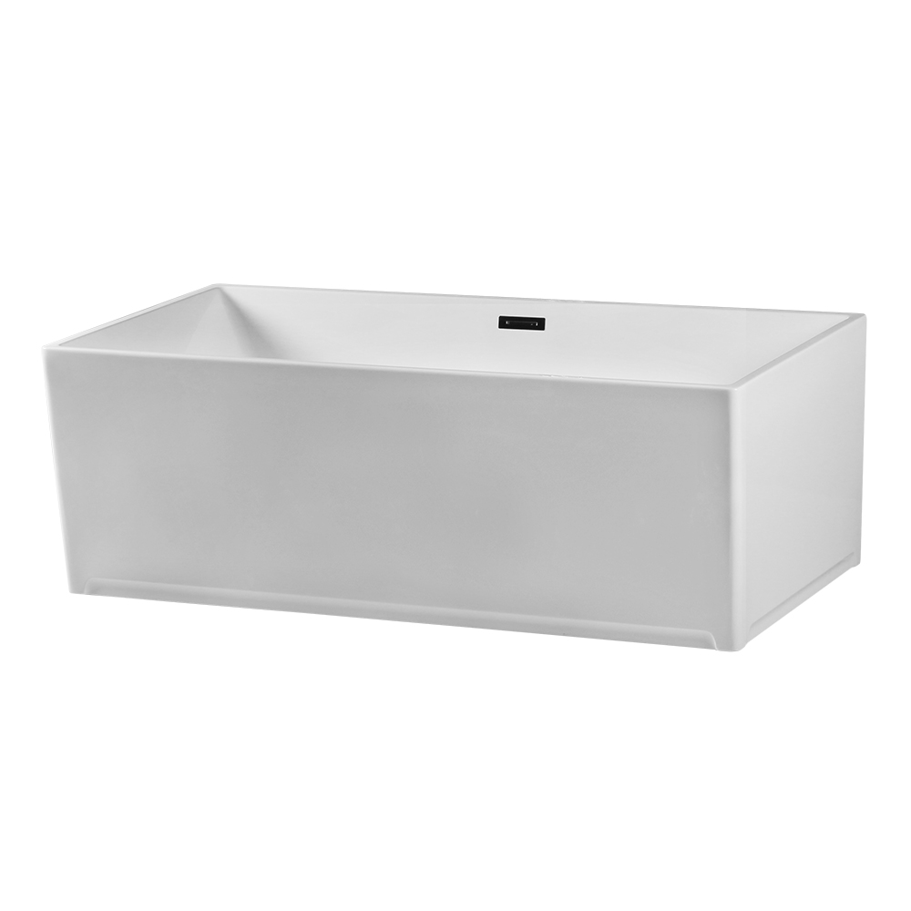 Narrow Thin Rim Vertical Square Freestanding Tub