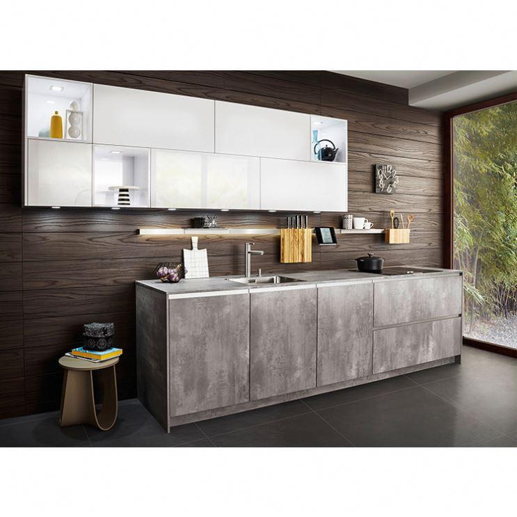 Naturally Oak Wood Veneer Kitchen Oak Laminate Door Kitchen Wooden Kitchen Furniture