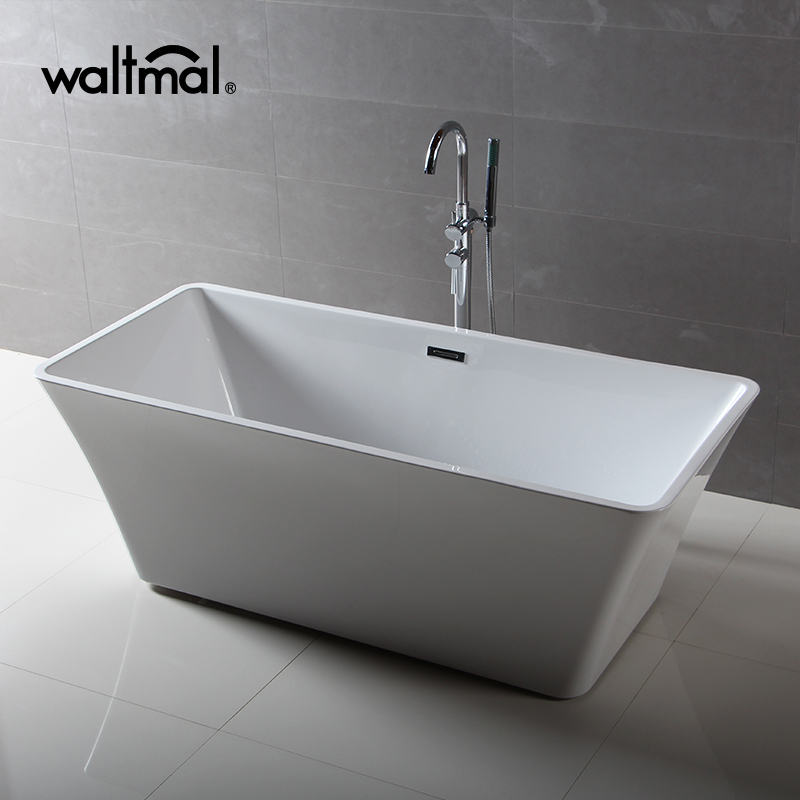 2018 hot sell glossy acrylic cUPC small rim freestanding bathtub