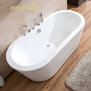 cocoblla Acrylic bathtub European style Customize Size CUPC Bath Tub Adult Soaking Freestanding
