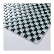 Hot product cheap black and white mosaic tile swimming pool ice cracked crystal glass mosaic for sale