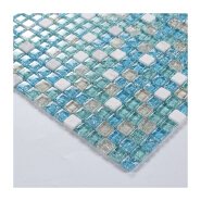 Ice cracked crystal glass mixed stone mosaic tile for wall and floor decor