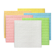 Cheap Wallpaper Self Adhesive Wall Tiles Foam Brick 3d Wallpaper Walls Wholesale Home Decoration Warm Color Wall Paper For Sale