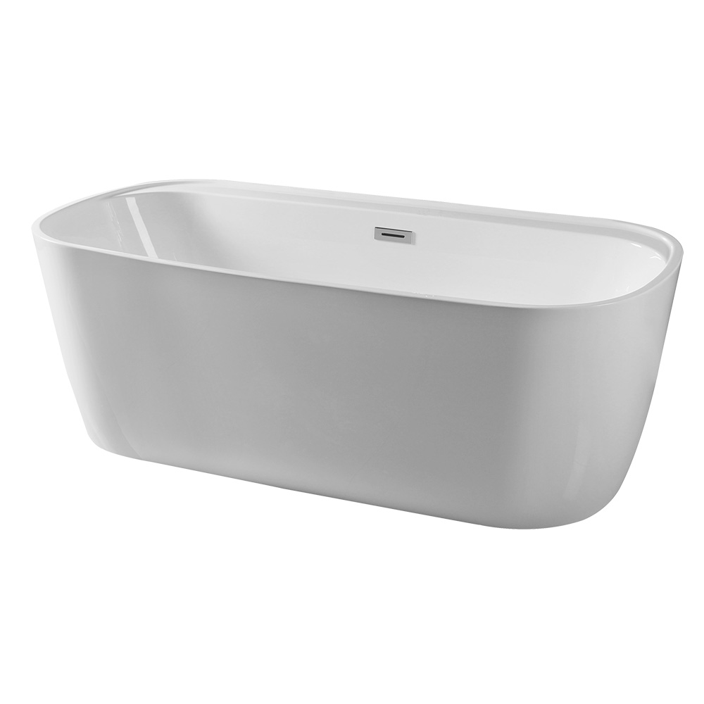67 Inch Garden / Home Glossy Surface Acrylic Freestanding Bath tubs For Adult
