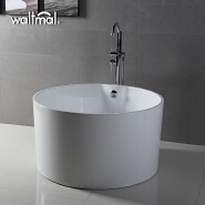 hot selling removable acrylic small round 1 person bathtub