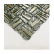Silver grey electroplate metal glass mosaic tile wall decor