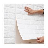 3D foam wallpaper self adhesive waterproof non toxic brick wall stickers wallpaper panel for home decor