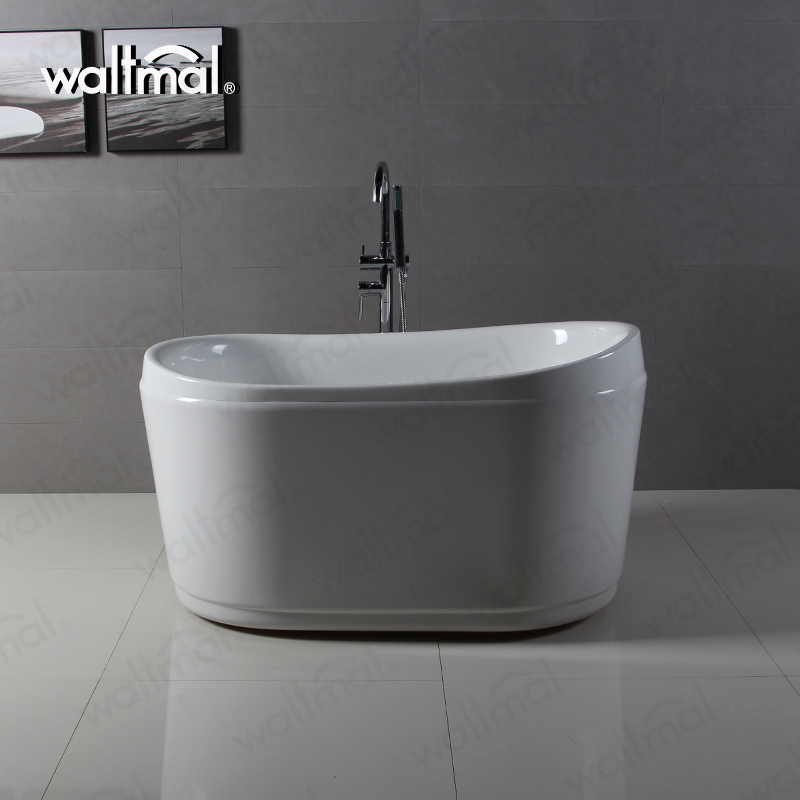 Waltmal Acrylic Material Left Drain Oval Freestanding Chinese soaking Tub For Baby/Pet WTM-02111