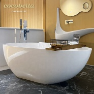 Modern white bathtub CUPC Solid Surface freestanding artificial stone bathroom bathtubs