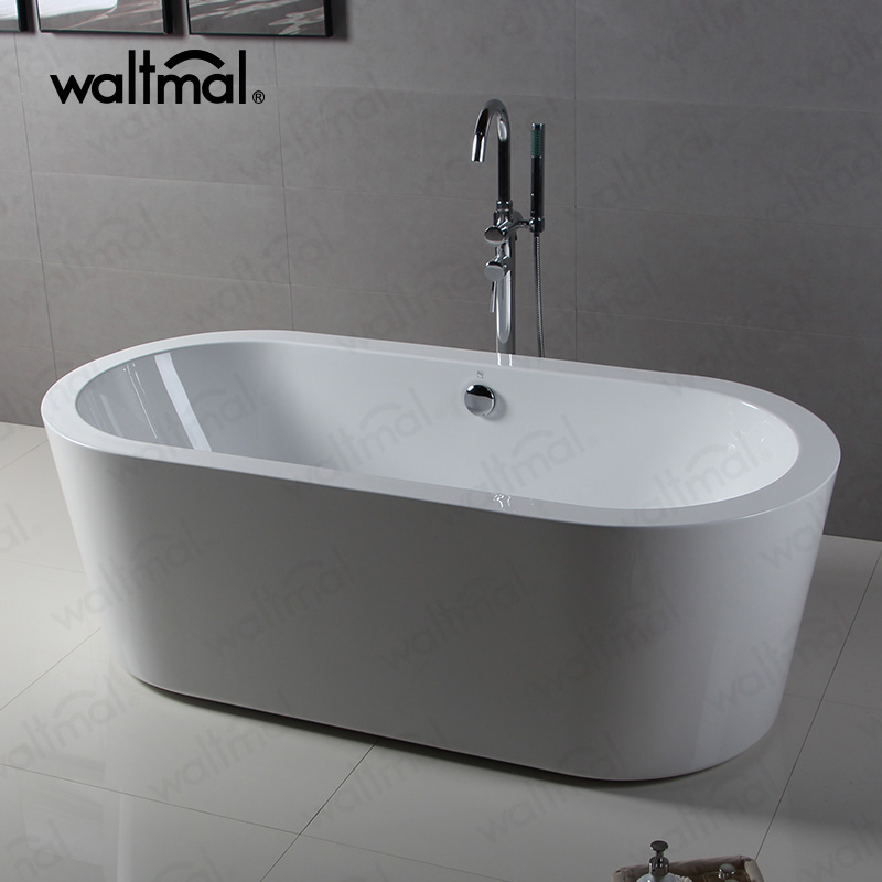 Waltmal cUPC Acrylic Material and Soaking function Free Standing Bathtubs