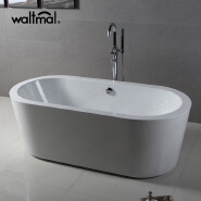 Waltmal cUPC Acrylic Material and Soaking function Free Standing Bathtubs